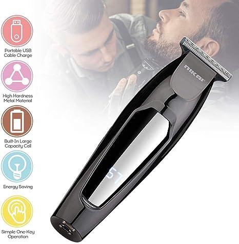 Anself afeitadora corporal,Barba barbero,cortapelos profesional,Maquina Afeitar Barba Maquina Cortar pelo Profesional Ajustable Velocidad de Rotación Carga USB: Amazon.es: Belleza