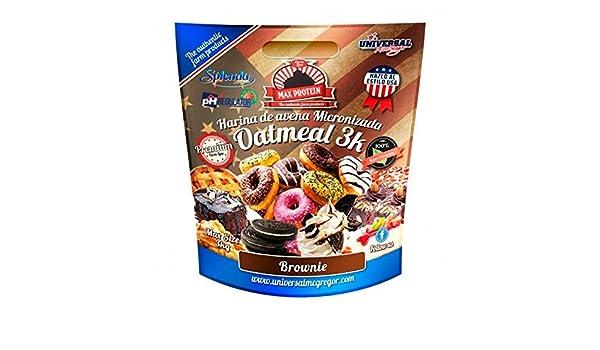 Max Protein Harina de Avena sabor Brownie - 3 kg: Amazon.es ...
