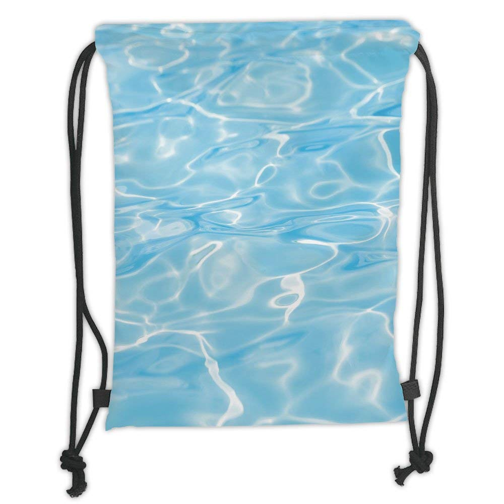 Ocean Blue Drawstring//Tote//Backpack//PE//Gym//Swim//School Bag
