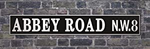 Pyramid America Abbey Road NW8 Street Sign Marker The Beatles London Westminster Recording Studios Cool Wall Decor Art Print Poster 36x12