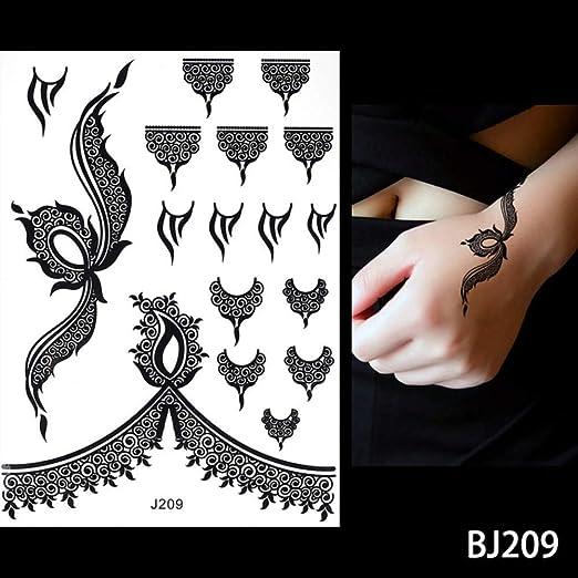 adgkitb 3 Piezas Tatuaje Impermeable Mujeres Tinta Negra Joya ...