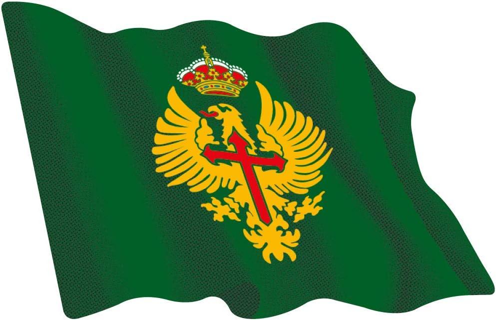 Amazon.es: Artimagen Pegatina Bandera ondeante Ejército de Tierra 60x50 mm.