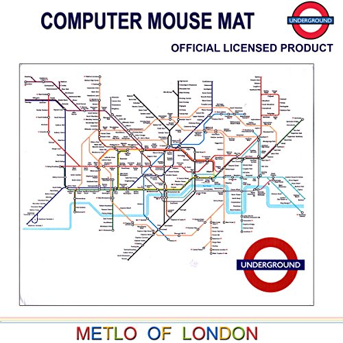 Transport for London, London Underground Tube Map Printed Computer Mouse Mat - London Tube Sign