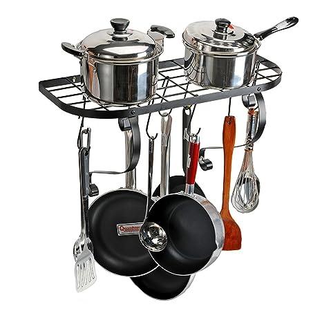 Exceptionnel Kitchen Wall Pot Pan Rack, Wekine Kitchen Cookware Square Grid Iron Pot  Hanger, Pot