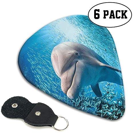Púas de guitarra 6 piezas, un delfín nariz de botella en el océano ...