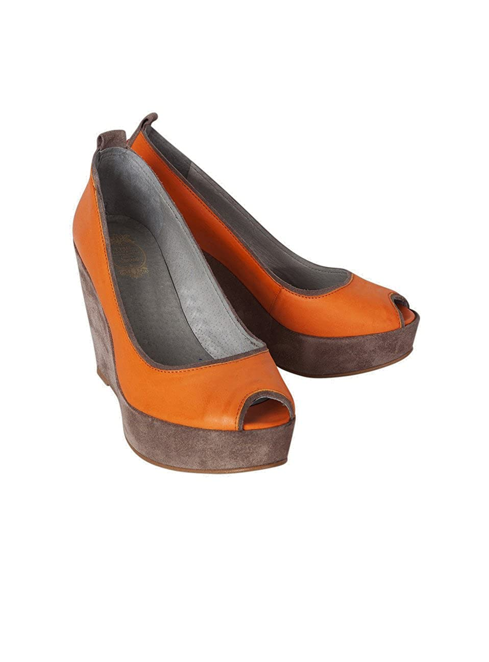Nobrand Toe Damen Peep Toe Nobrand Ethel Orange aca38e