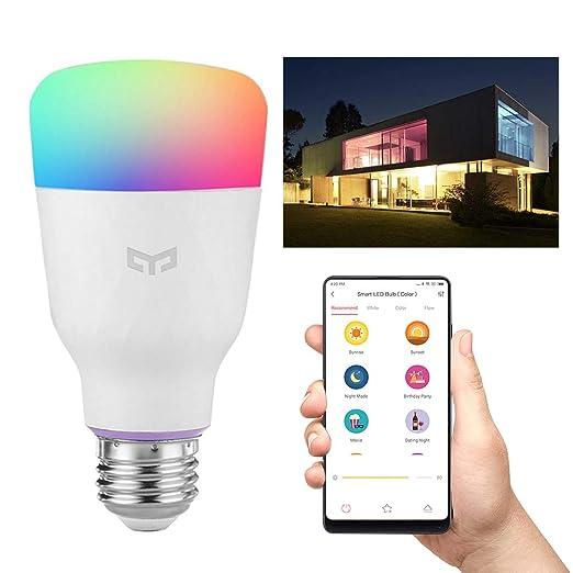 P12cheng Bombilla LED inteligente, compatible con WiFi, E27 10 W 800 lm, bombilla