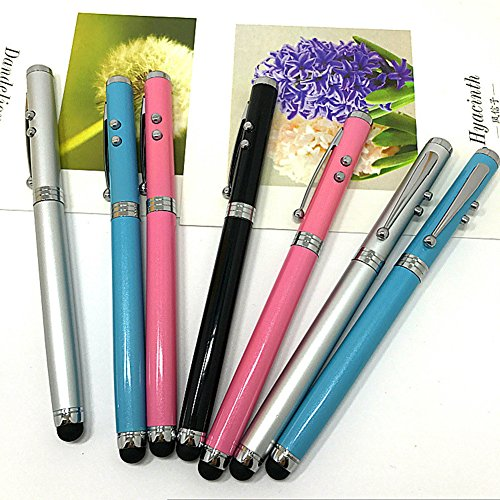 Price comparison product image Minzhao Metal four in one laser touch pen LED electronic laser capacitor pen 4 pcs