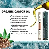 Castor Oil Cold Pressed Organic For Eyelashes Eyebrows Hair Growth Treatment 100 Pure Certified Hexane Free With Mascara Tube Brush Eyeliner Applicator To Enhance Lash And Brow 10ml 034oz