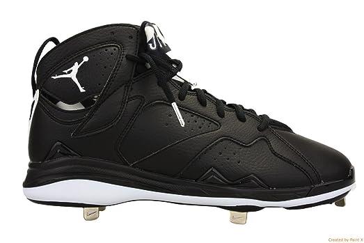 Nike Men\u0027s Air Jordan 7 Retro Metal Black/White Baseball Cleat 16 Men US