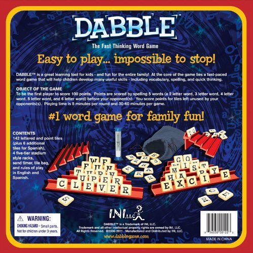 Amazon dabble the fast thinking word game ini toys games expocarfo
