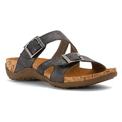 Bearpaw Women's Maddie Sandal,Charcoal Synthetic,US ...