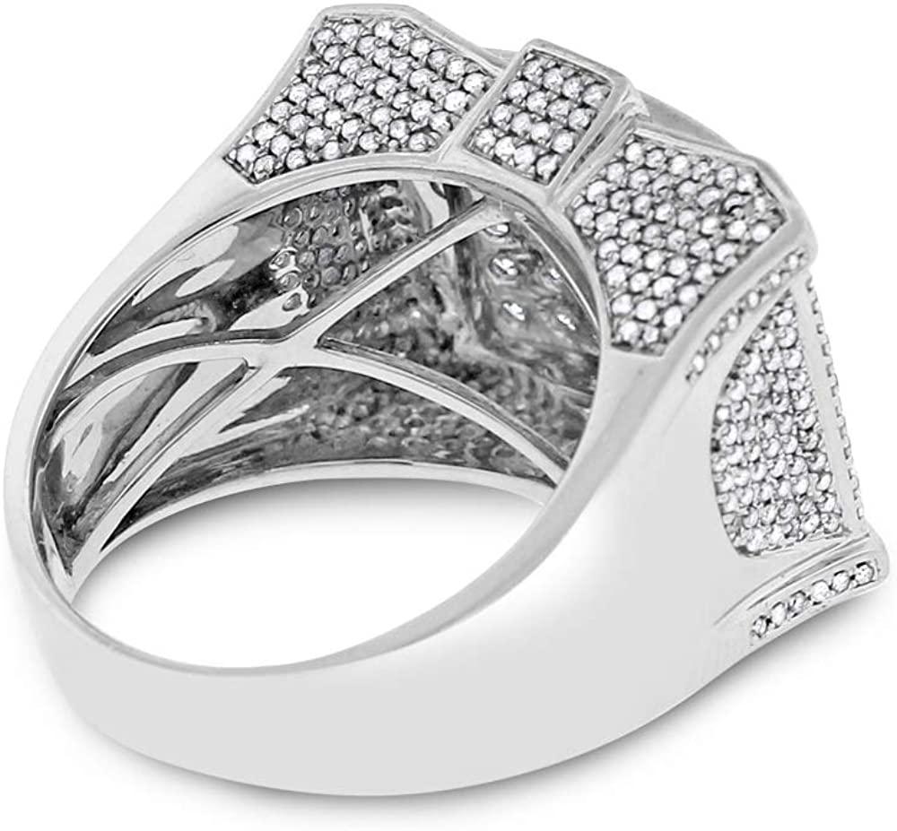 2.25 Ct. Natural Diamond Men\'s Statement Iced Out Ring in Solid 14k White Gold 61EFrrIOKQLUL1000_