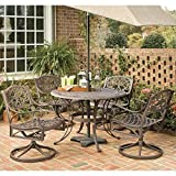 Home Styles 5555-305 Biscayne 5-Piece Outdoor Dining Set, Rust Bronze Finish, 42-Inch