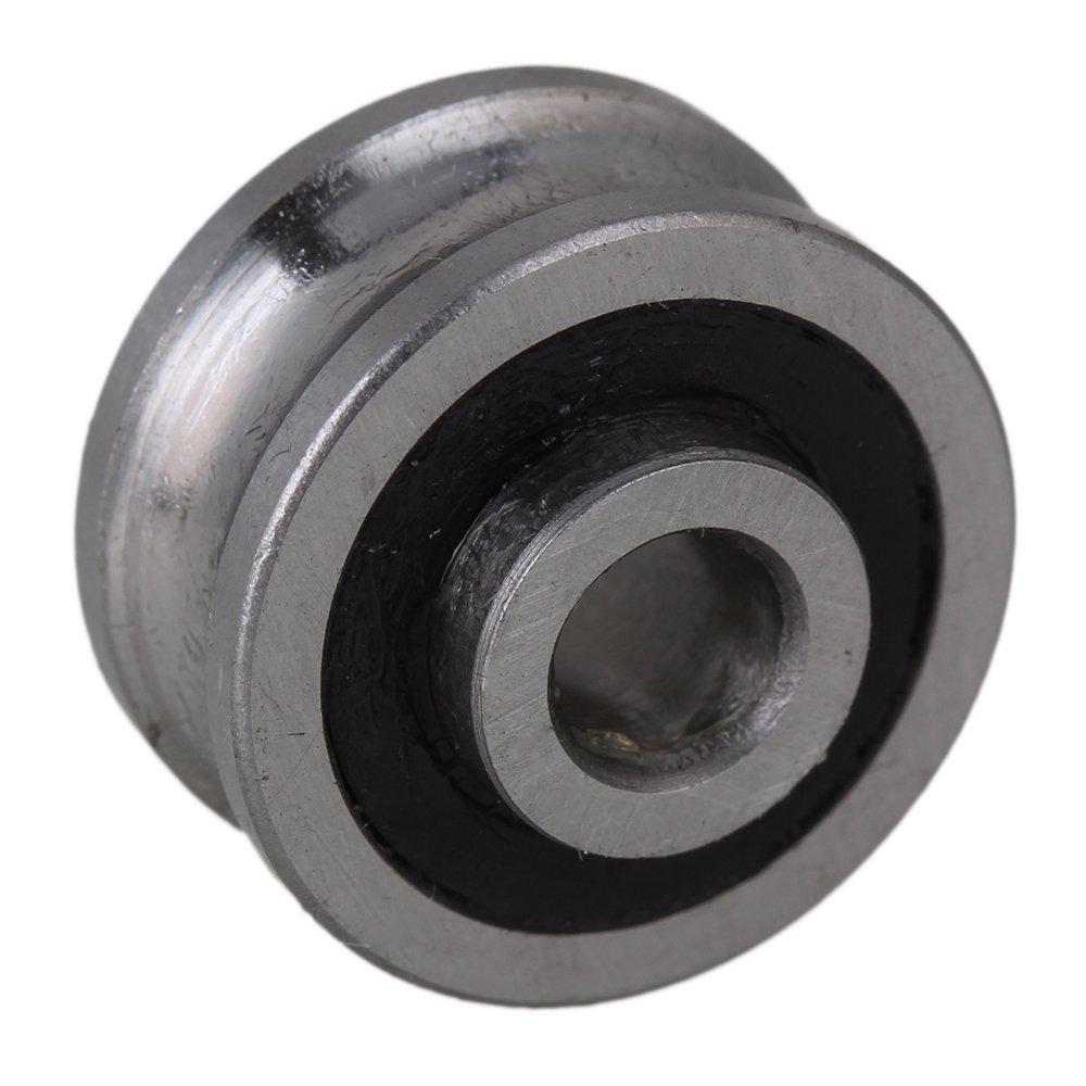 6 x 24 x 11mm Silber Pr/äzisionsstahl Schienenf/ührung U Nut abgedichtetes Kugellager SG20