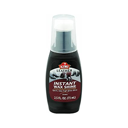 aabbfe25c4362 Kiwi 11532 2.5 Oz Brown Leather Instant Wax Shine