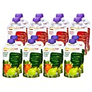 Happy Tot Organic Toddler Food Variety Pack, Spinach Mango Pear and Banana Mango Peach, 4.22 Ounce Pouch (Pack of 16)