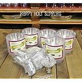 Party Combo Pack-200 Pieces, INCLUDES Premium Plastic CLEAR 10 oz Bowls and Plastic Silver Soup Spoons w/Bonus FDL Picks - SERVES 100