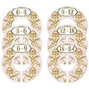 Mumsy Goose Baby Girl Clothes Dividers Nursery Closet Dividers Closet Organizers Pink Gold