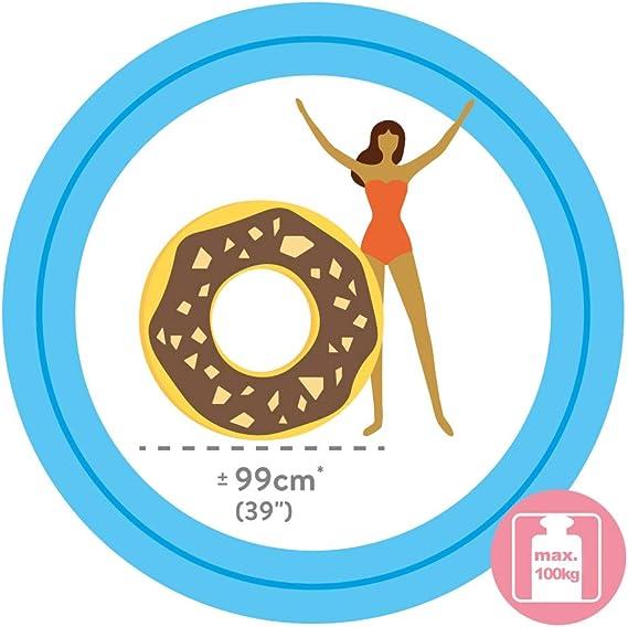 Intex 56262NP - Rueda hinchable Donut chocolate 114 cm diámetro ...