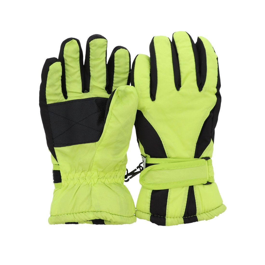 Waterproof Slant Design Ski Gloves for Youth - Neon Yellow MTGL0053NY
