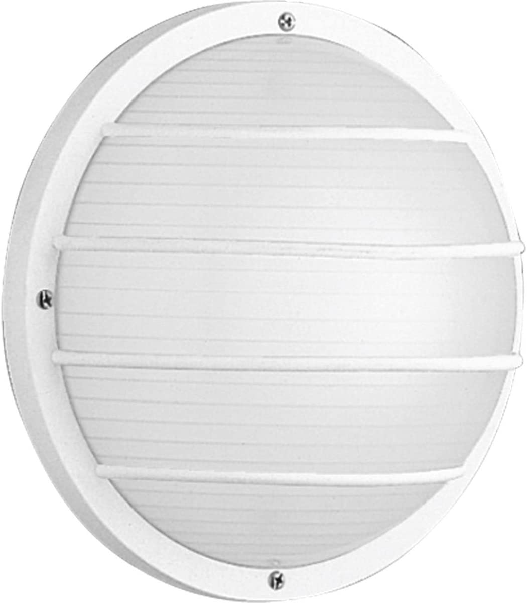 Progress Lighting P5703-30 Transitional One Light Wall or Ceiling Mount from Polycarbonate Outdoor Collection in White Finish, 10-Inch Width x 10-Inch Height