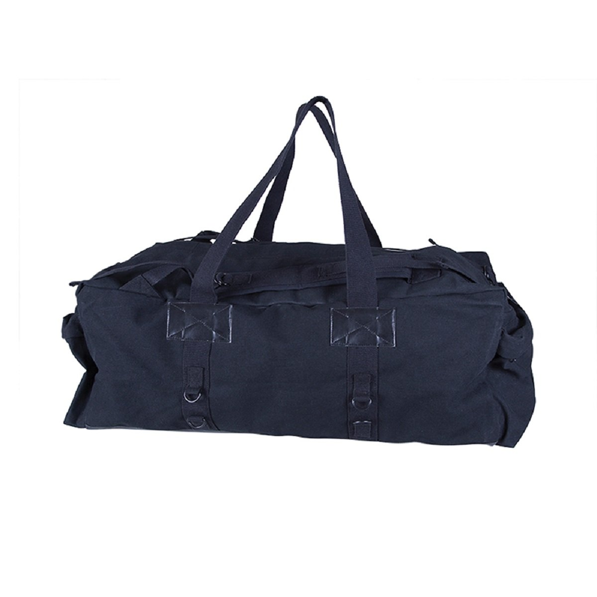 CANVAS TACTICAL DUFFLE BAG - BLACK - 34 IN X 15 IN X 12 IN, Case of 6 by DollarItemDirect
