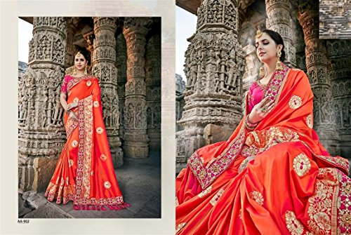 kulturelle bollywood designer Saree Frauen Hochzeitsstickerei kleiden Traditionelle ethnische Bluse 895 … indische der Parteikleiden seta der UnvaqT