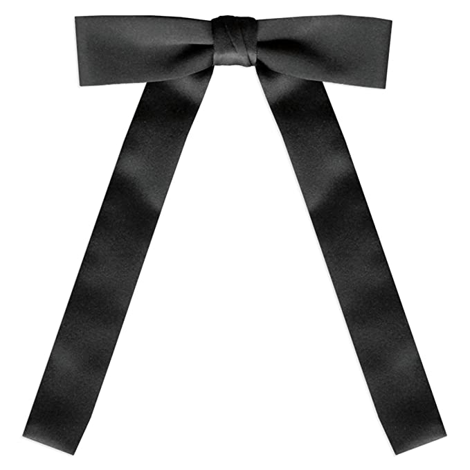 Victorian Mens Ties, Ascot, Cravat, Bow Tie, Necktie Black Satin Western Tie $8.50 AT vintagedancer.com