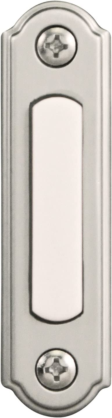 Heath Zenith SL-256-02 Push Button, Satin Nickel