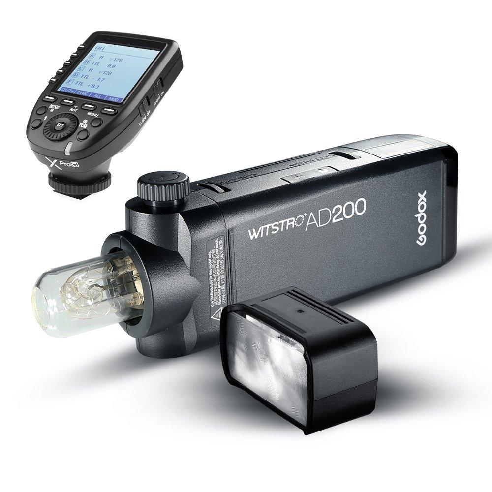 Godox AD200 200Ws 2.4G TTLフラッシュストロボ1/8000 HSS 2900mAh Lithimuバッテリーと裸電球/スピードライトフレネルフラッシュヘッド、フルパワーショット500回をカバーし、0.01-2.1秒でリサイクル XPRO-C TTLワイヤレスフラッシュトリガートランスミッタ(Canon EOSシリーズカメラ用 (AD200+Xpro-C) AD200+Xpro-C  B07CWV21MD