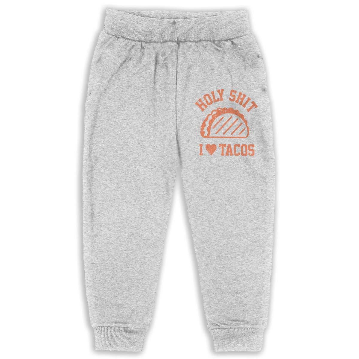 I Love Tacos Holy Shit Child Boys Girls Unisex Sports Sweatpants Kids Casual Jogger Pants
