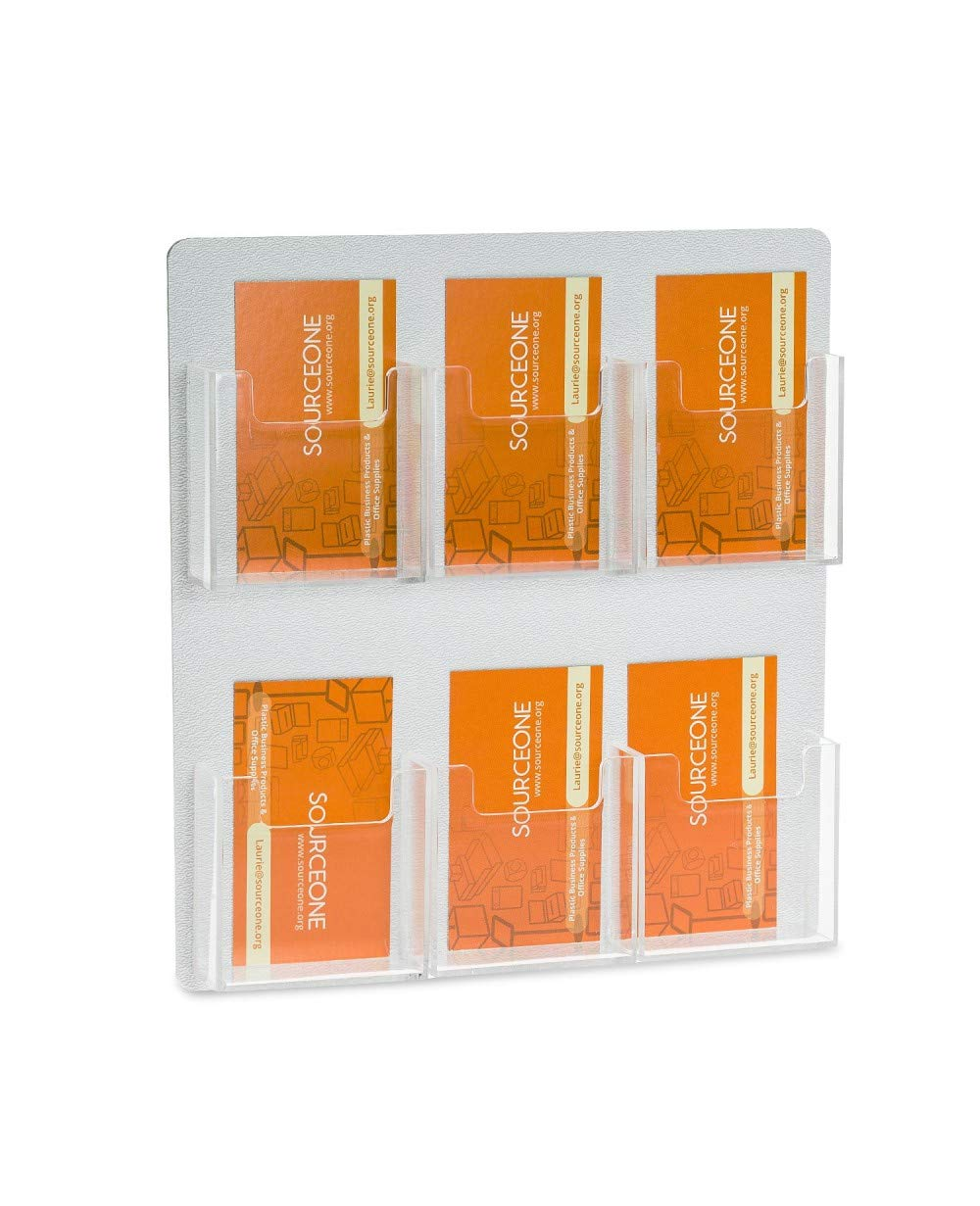 Source One 6 Pocket Vertical Wall Mount Business Card Holder Display (6P-WM-BC-VERITCAL)