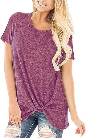 Camiseta De Manga Larga Mujer para Esencial Jersey con Cuello ...