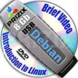 Debian 8 on 8gb USB Flash and Complete 3-disks DVD Installation and Reference Set, 32 and 64-bit