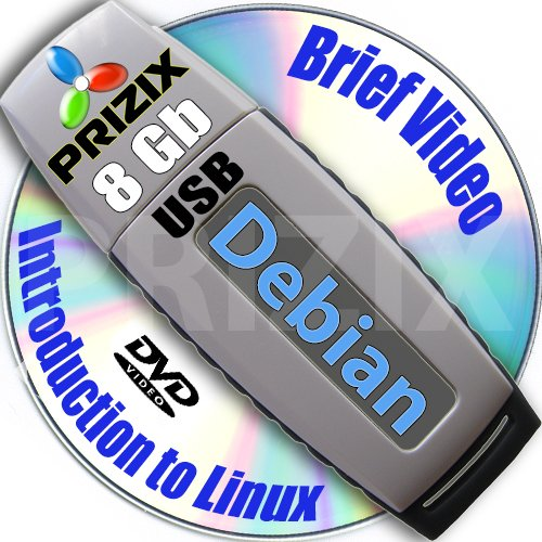 Debian 8 on 8gb USB Flash and Complete 3-disks DVD Installation and Reference Set, 32 and 64-bit by SetLinux by PRIZIX