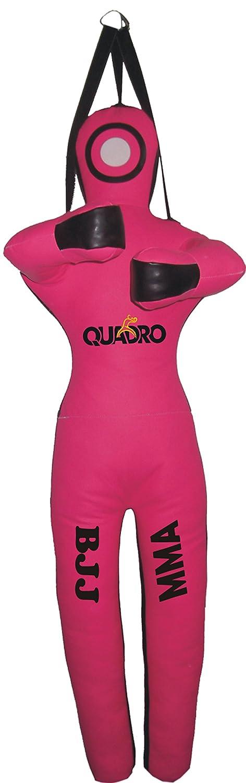 最も信頼できる Quadro MMA B076X6NBW8 Martial Arts MMA GrapplingダミーピンクJiu Jitsu Punching Jitsu Bag – Unfilled 59 inches (5 ft) Synthetic Leather Pink Hanging Strap B076X6NBW8, ヤマダ設備:711d04c1 --- sabinosports.com