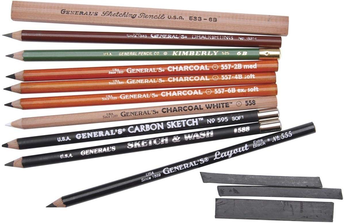 General Dibujo A Lápiz Lápiz Kit 12 Piece Arte Manualidades Y Costura