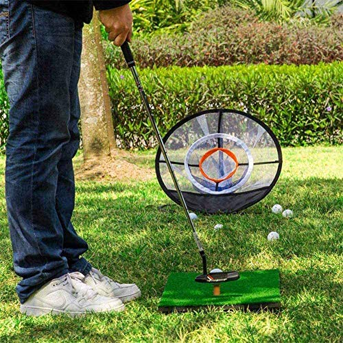 Mtianxy Golf Net, Collapsible Portable Chipping Golf Net,Golf Chipping Practice Net Indoor/Outdoor, Golfing Target AccessoriesTraining Aids