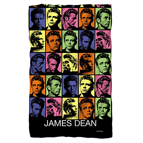 James Dean Color Block Fleece Blanket White 48X80