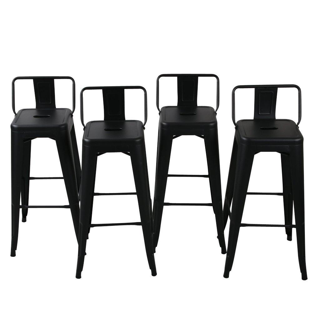 Amazoncom Belleze 30 Inch Barstools Bar Stools Low Back Set Of 4