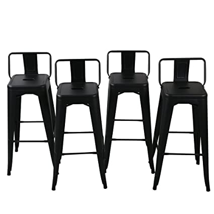 Amazoncom Belleze 30 Inch Barstools Bar Stools Low Back Set Of 4