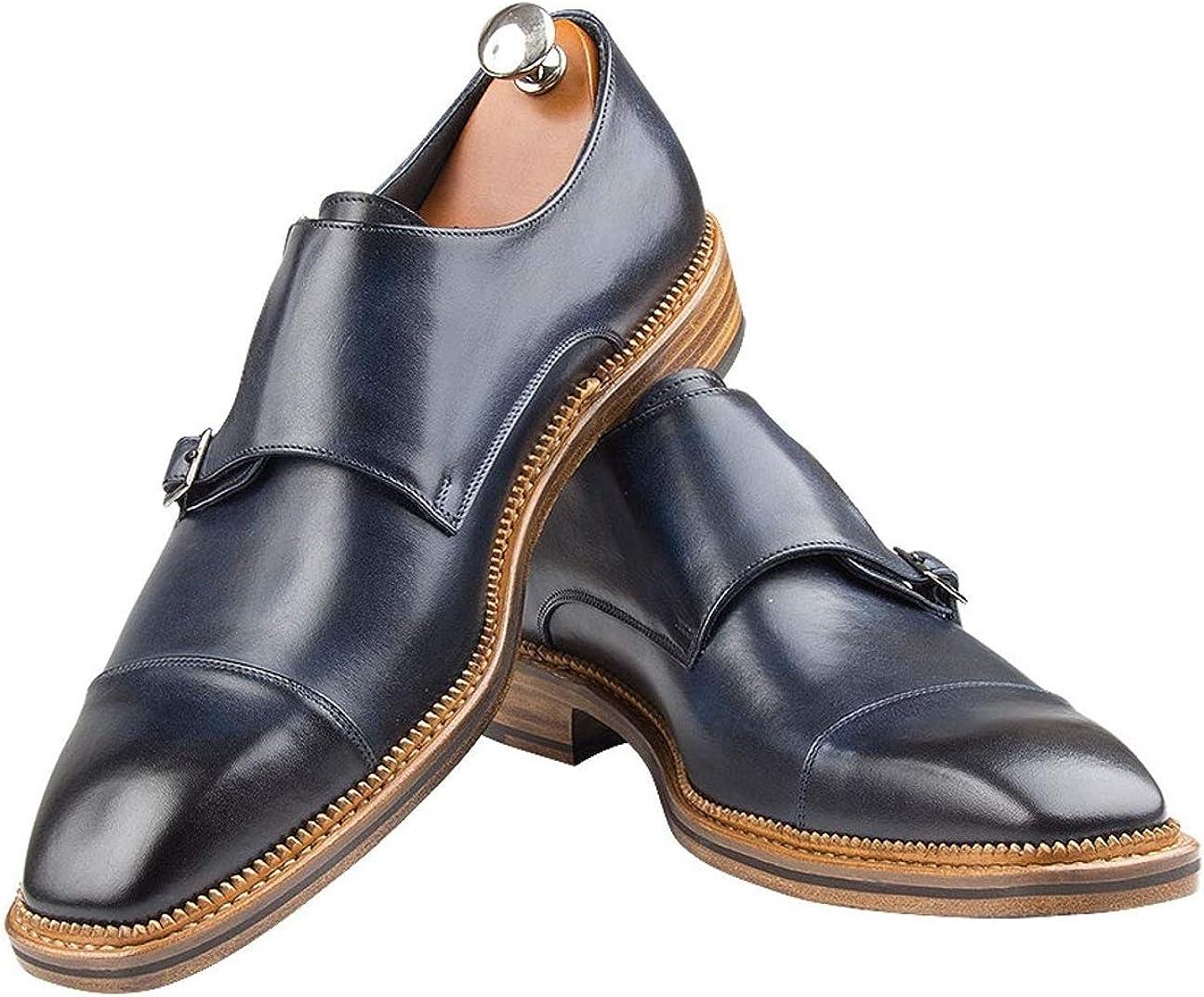Handmade Italian Men's Shoes Monk Blake