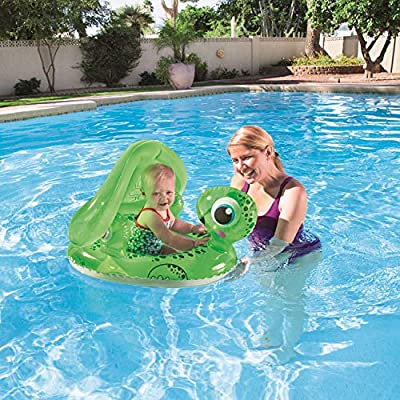 H2OGO! Floating Turtle Baby Care Seat Inflatable Pool Float: Toys & Games