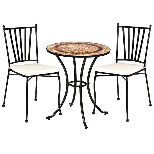 Conjunto de Mesa y sillas para jardín marrón de cerámica Garden ...