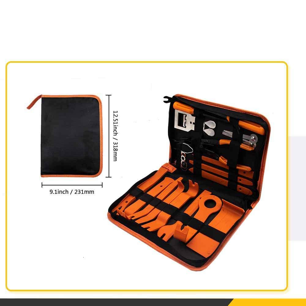 DZANKEN Kit de 25 Outils de d/émontage de Garniture de Voiture avec Sac de Rangement