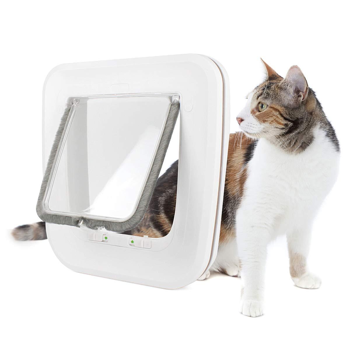 Namsan Pet Cat Door - 4 Way Locking Cat Flap with Door/Window for Puppuy Cats by Namsan