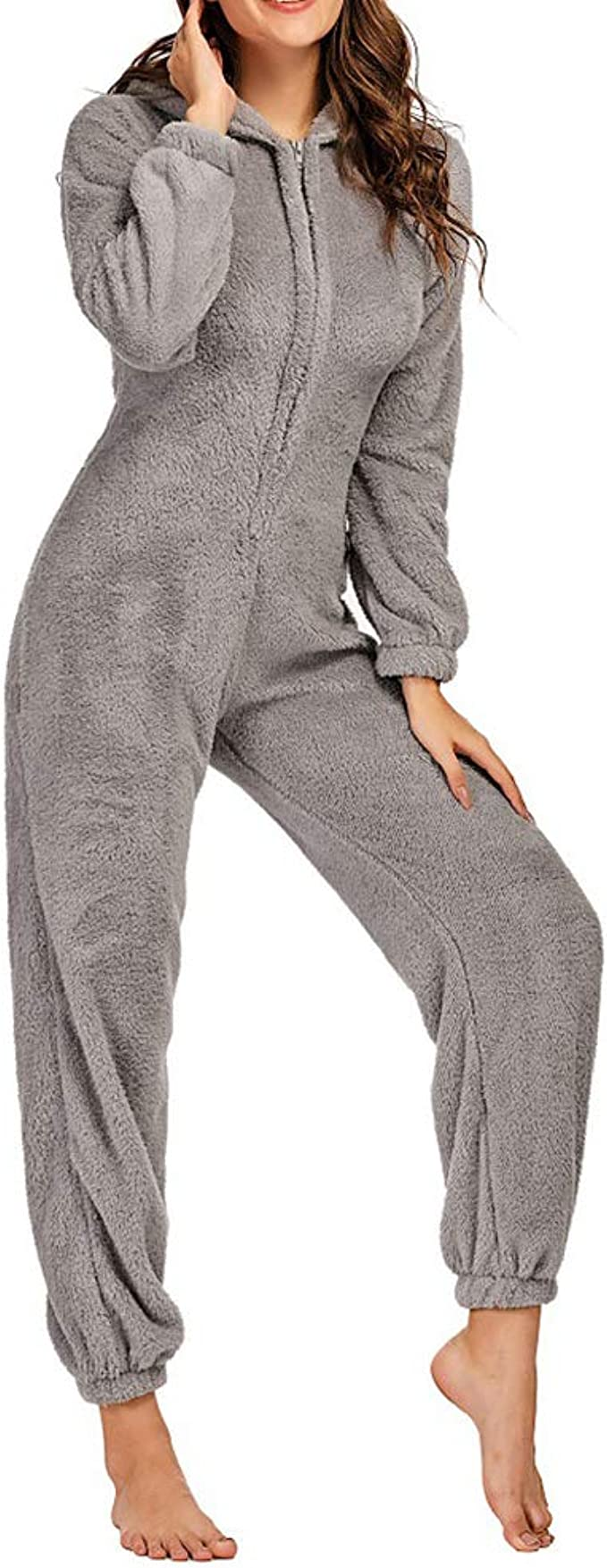Mono Pijama De Mujer Niño Pijama Invierno Capucha 3D Adulto ...