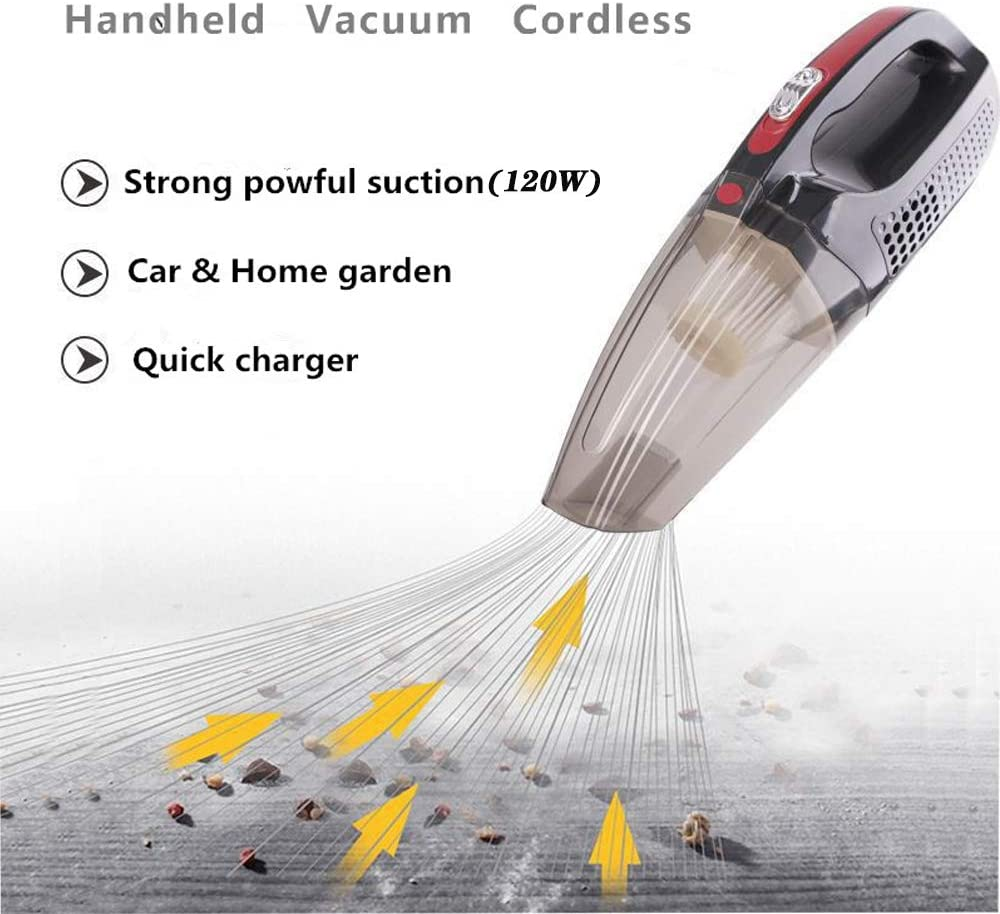 Handheld Vacuum Cleaner,Upgraded Powerful Vacuum Cleaner with HEPA Filter,Portable Rechargeable Hand Vac with Quick Charge Lightweight for Car Kitchen Home Cleaning