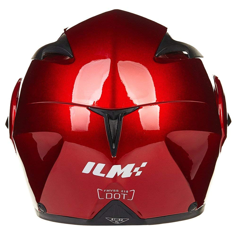 XL, Matte Black by ILM 10 Colors Motorcycle Dual Visor Flip up Modular Full Face Helmet Dot